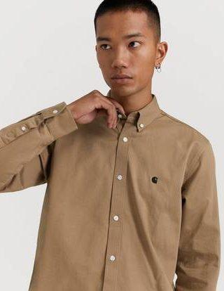 Carhartt WIP Skjorte L/S Madison Shirt Natur