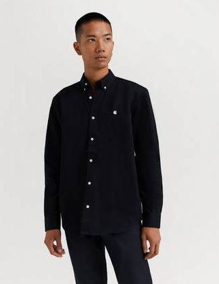 Carhartt WIP Skjorte L/S Madison Shirt Svart