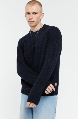 Carhartt WIP anglistic sweater in navy