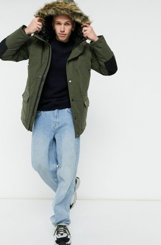 Carhartt WIP trapper parka jacket in khaki-Green