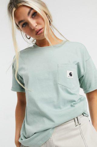 Carhartt Wip t-shirt with pocket logo-Green