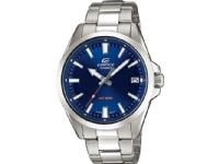 Casio EFV-100D-2AVUEF, Armbåndsur, Unisex, Rustfritt stål, Blå, Sølv, Rustfritt stål, Sølv