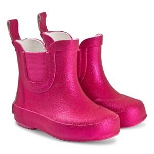 Celavi Glitter Kort Regnstøvler Real Pink 24 EU