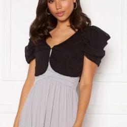 Chiara Forthi Candy puff sleeve bolero Black XL
