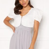 Chiara Forthi Candy puff sleeve bolero White XL