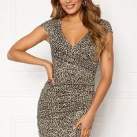 Chiara Forthi Soprano Sparkling Wrap Dress Leopard S