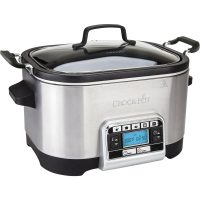 Crock-Pot Multicooker 5,6 L Timer Rustfritt Stål