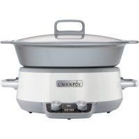 Crock-Pot Slowcooker One Pot Cooking 6,0 l Induksjon Duraceramic Timer Hvit