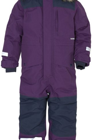 Didriksons Polarbjörnen Vinterdress, Berry Purple 80