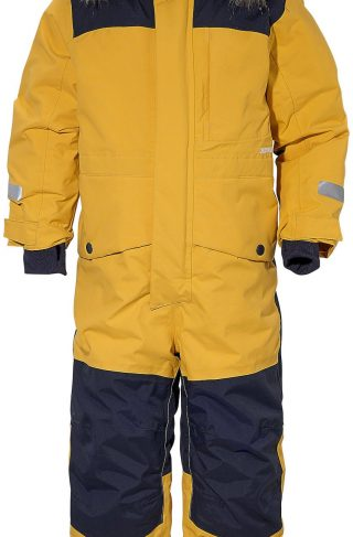 Didriksons Polarbjörnen Vinterdress, Oat Yellow 130