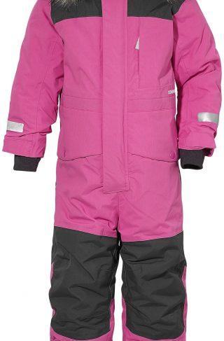 Didriksons Polarbjörnen Vinterdress, Plastic Pink 120