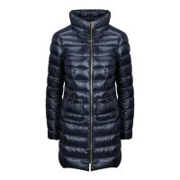 Full ZIP Long Quilted Down Jacket