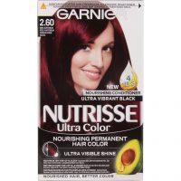 Garnier Nutrisse Ultra Color Deep Cherry Black, Garnier Rød hårfarge