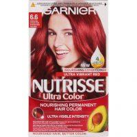 Garnier Nutrisse Ultra Color Intense Red, Garnier Rød hårfarge
