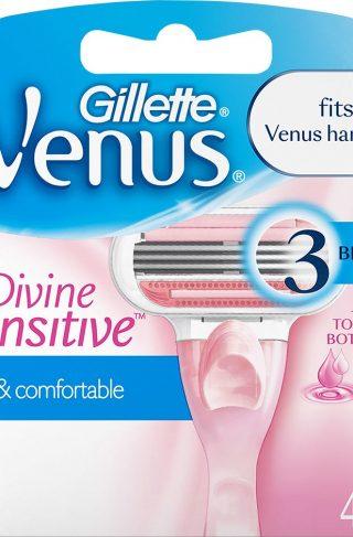 Gillette Venus Divine Sensitive Refill, Gillette Barberhøvler & Barberblad