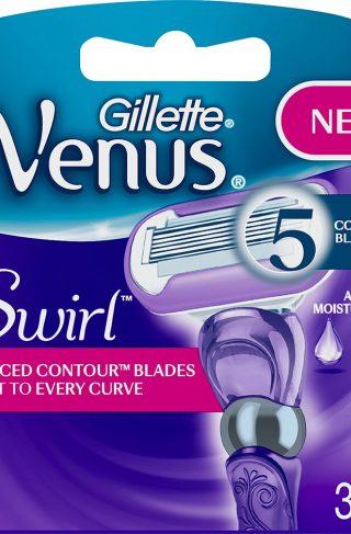 Gillette Venus Swirl 3-Pack, Gillette Barberhøvler & Barberblad