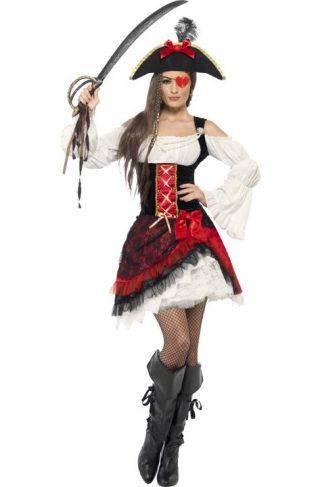 Glamorøs Pirat Kostyme Large