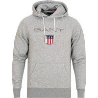 Grå Gant Shield Hood Genser