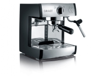 Graef Tchibo Cafissimo, Espressomaskin, 2,5 l, Kaffe bønner, Kaffe kapsyl, Kaffe pute, Malt kaffe, 1410 W, Svart, Rustfritt stål