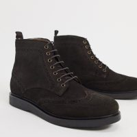 H by Hudson calverston brogues boots brown suede