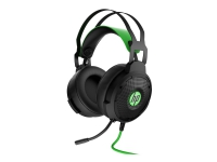 HP Pavilion Gaming 600 - Headset - full size - wired - USB - Black/Green - for OMEN by HP