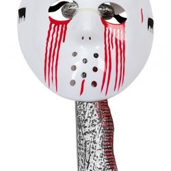 Halloween Bloody Jason Mask w. Machete (95964)