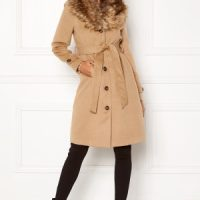 Happy Holly Elisa coat with belt Camel 46