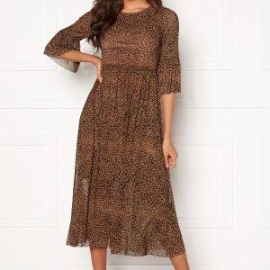 Happy Holly Lina mesh dress Leopard 36/38