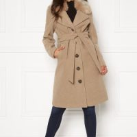 Happy Holly Mariah wool blend coat Beige 36