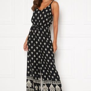 Happy Holly Matilda strap jumpsuit Black / Patterned 44/46