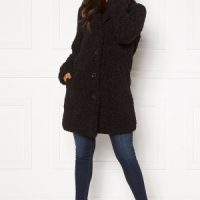 Happy Holly Nicole teddy coat Black 48/50