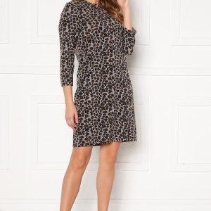 Happy Holly Nora cosy dress Leopard 40/42