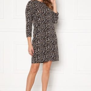 Happy Holly Nora cosy dress Leopard 44/46