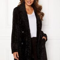 Happy Holly Sienna fur coat Black 48/50