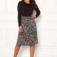 Happy Holly Susanna 2in1 dress Black / Leopard 52/54