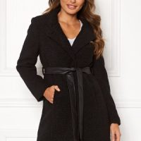 Happy Holly Tuva wool coat Black 50