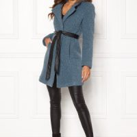 Happy Holly Tuva wool coat Dusty blue 50