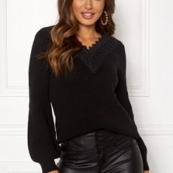 Happy Holly Wendy lace sweater Black 40/42