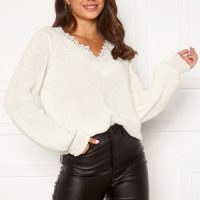 Happy Holly Wendy lace sweater Offwhite 44/46