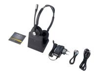 Jabra Engage 75 Stereo - Headset - på øret - DECT / Bluetooth - trådløs - NFC