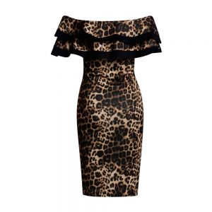 Kaira Bardot Leopard Dress