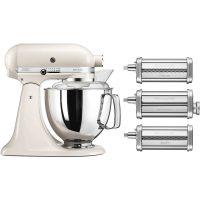 KitchenAid Artisan KSM175PSELT Perlehvit + Pastatilbehør