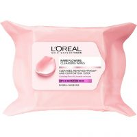 L'Oréal Paris Rare Flowers Cleansing Wipes Dry/Sensitive Skin, L'Oréal Paris Ansiktsrengjøring