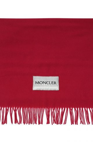 Logo-patched scarf