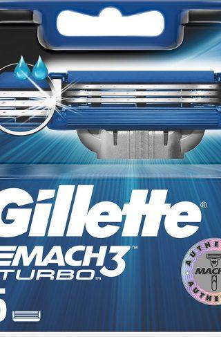 Mach3 Turbo Razor Blades, Gillette Barberhøvler & Barberblad