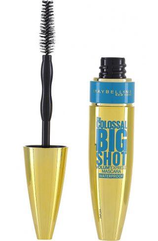 Maybelline Volum' Express Colossal Big Shot Black Waterproof Mascara, Maybelline Vannfast Mascara