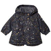 Mikk-Line Nylon Aop Baby Jacket Blue Nights 74 cm (6-9 mnd)