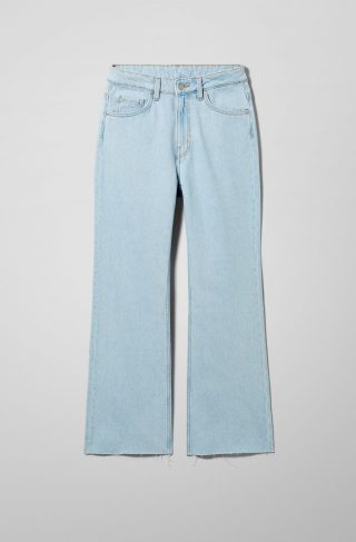 Mile High Flare Cropped Jeans - Blue