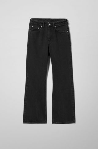 Mile High Flare Slim Jeans - Black