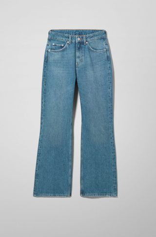 Mile High Flare Slim Jeans - Blue